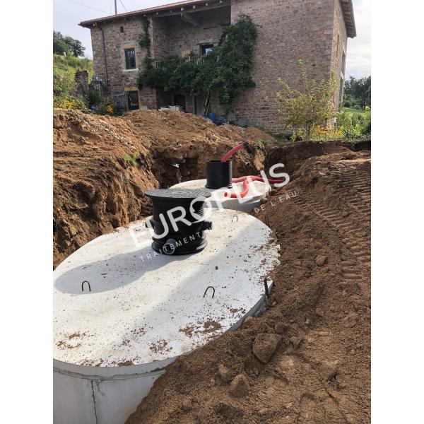 Récupération d'eau pluviale, cuve béton eau de pluie