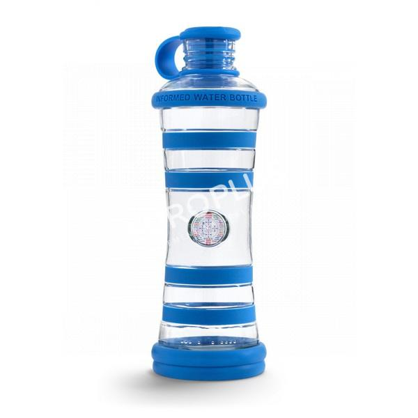bouteille d'eau, bouteille i9 bleue chakra en rhône alpes