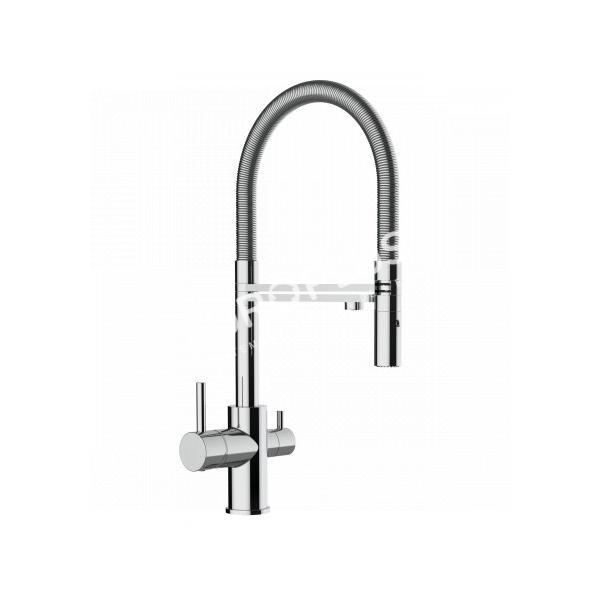 robinetterie, robinet de cuisine trois voies eau